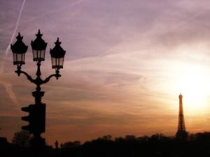 エッフェル塔と夕焼け